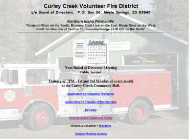 Curley Creek Volunteer Fire District